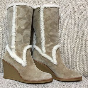 👢Coach Suede Leather Boots 👢